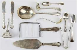Assorted Sterling Silver Flatware, Tiffany Dropper