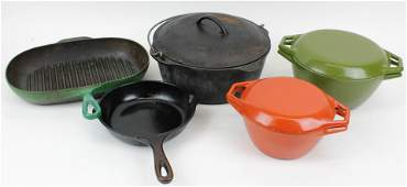 Enamel, Cast Iron Cookware incl Le Creuset