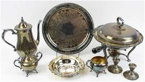 Lot of Sterling and Silver-plated Hollowware