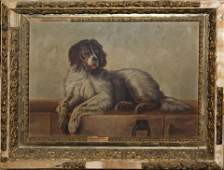 Primitive 19th c American School Portrait of a Setter