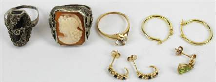 A Group of Gold  Vintage Jewelry