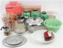 Large Group of Vintage Kitchen Glassware