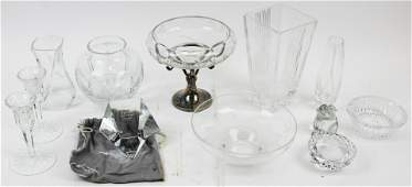 Lot of Crystal Items Incl Baccarat Steuben etc