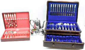 2 Chests of Silver Plated Flatware