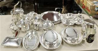 Large Group of Silverplate Hollowware