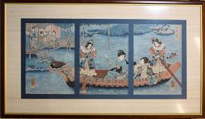 Utagawa Kuniyoshi 17981861 Ladies on a boat