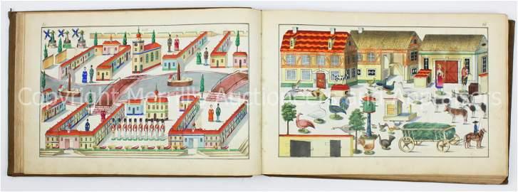 Rare ca 1850 German Toy Sample Book