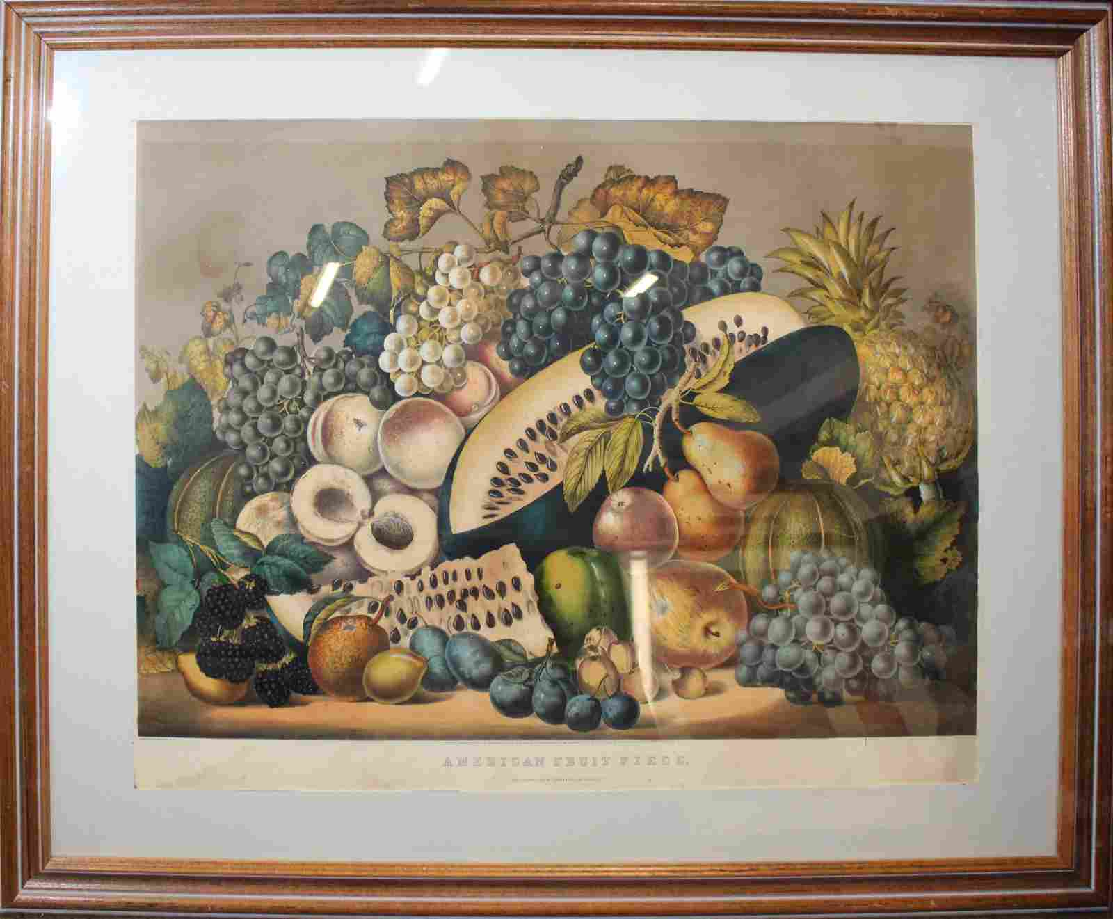 """Currier and Ives """"American Fruit Piece """""""