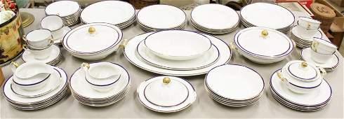 Johnson Brothers Blue & Gold Rim Dinnerware