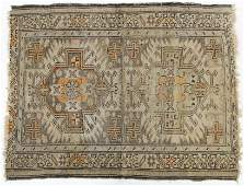 Antique Sevan Shield Design Kazak Oriental Rug