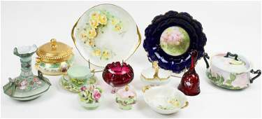 Group of Mixed Porcelain incl. Nippon, Limoges