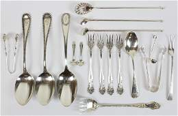 18 pcs. Assorted Sterling Silver Flatware