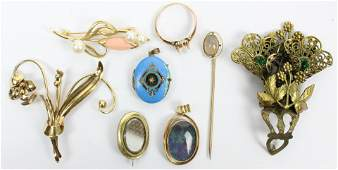 A Group of Victorian Gold Jewelry