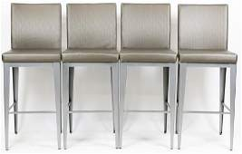 A Set of 4 Amisco Industries Modern Bar Stools