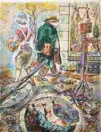 George Grosz (DE/NY 1893-1959) City Dwellers