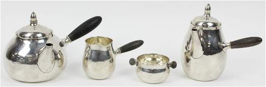 4 pc. Georg Jensen Sterling Silver Tea Set