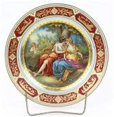 Royal Vienna Handpainted Porcelain Cabinet Plate