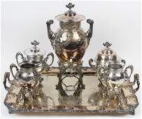 Victorian Meriden Silverplate 5 pc. Tea Set