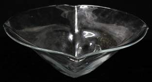 Simon Pearce Large Woodbury Blown Glass Bowl