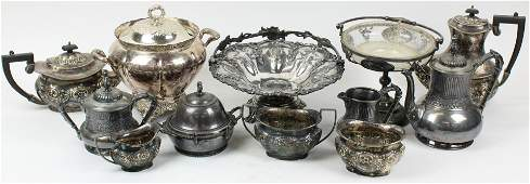 Group of Victorian Silverplated Hollowware