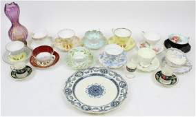 Collection of Bone China Tea Cups and Saucers