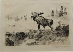 Carl Rungius (AM 1869-1959) Morning Mist