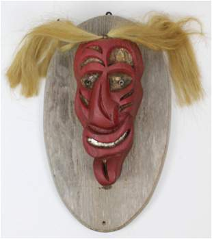 Mid 20th c Iroquois False Face Mask