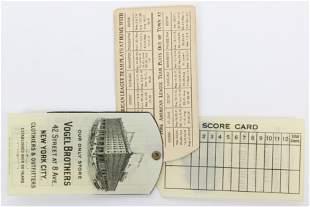 Ca 1900 Celluloid Baseball Score Card