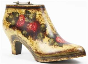 Peter Ompir Paint Decorated Wooden Shoe