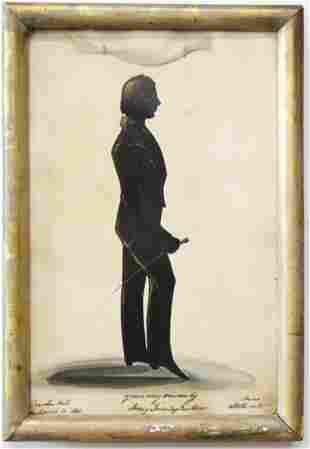 1843 Harry Townley Parker Silhouette