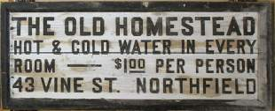The Old Homestead- Northfield VT Trade Sign