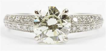 Diamond & Platinum Engagement Ring