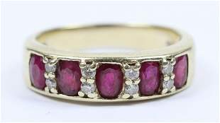 Ruby, Diamond, & 14k Ring