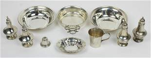 10 pcs. Assorted Sterling Silver Hollowware