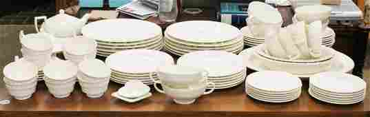 64 pcs. Wedgwood Embossed Queensware China