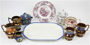 10 pcs. Assorted 19th c. English Ceramics