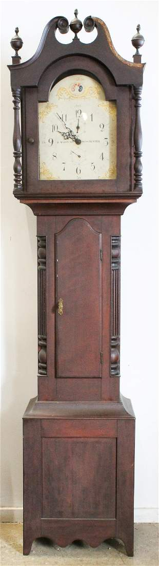R Whiting Winchester Sheraton Tall Case Clock