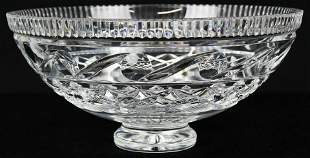 Signed Waterford Irish Crystal Centerpiece Bowl
