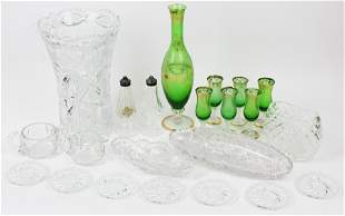 22 pcs. Glassware incl. Waterford, Cut Glass