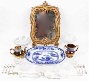 Flow Blue, Flint Glass, Copper Luster Etc