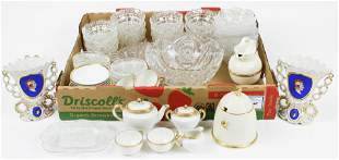 Group of Assorted Porcelain and Glassware