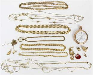 A Group of Watches, Jewelry, & 10k Gold