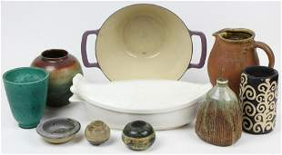 Mid Century Studio Art Pottery and Cookware