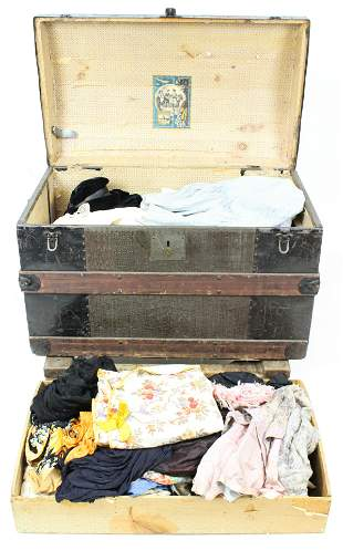 Trunk with Victorian Clothing