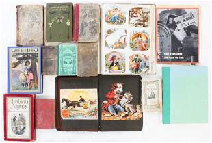 Two Victorian Trade Card Albums, Old Books