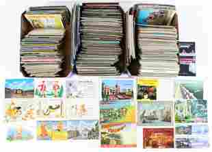Large Lot of 3 Boxes of Assorted Postcards
