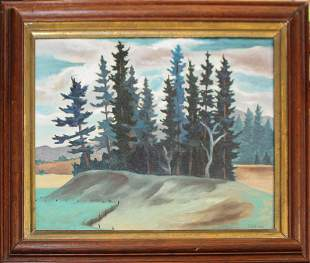 Francis Colburn (VT 1909-1984) Stand Of Spruce