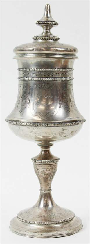 German Coin Silver Presentation Chalice