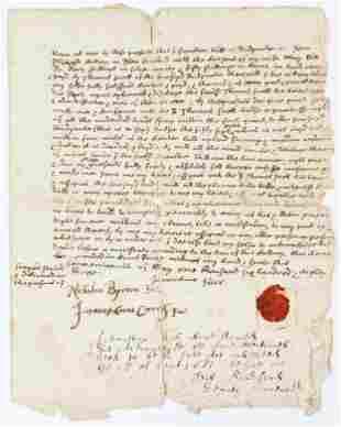 1683 William Bradford Signed deed