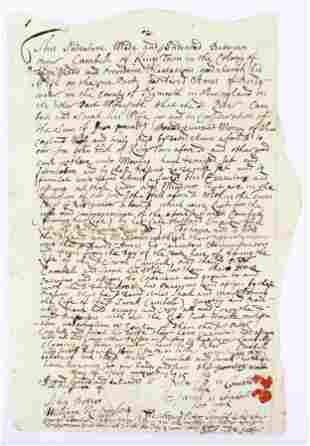 1715 Kings Town Providence Plantation Deed